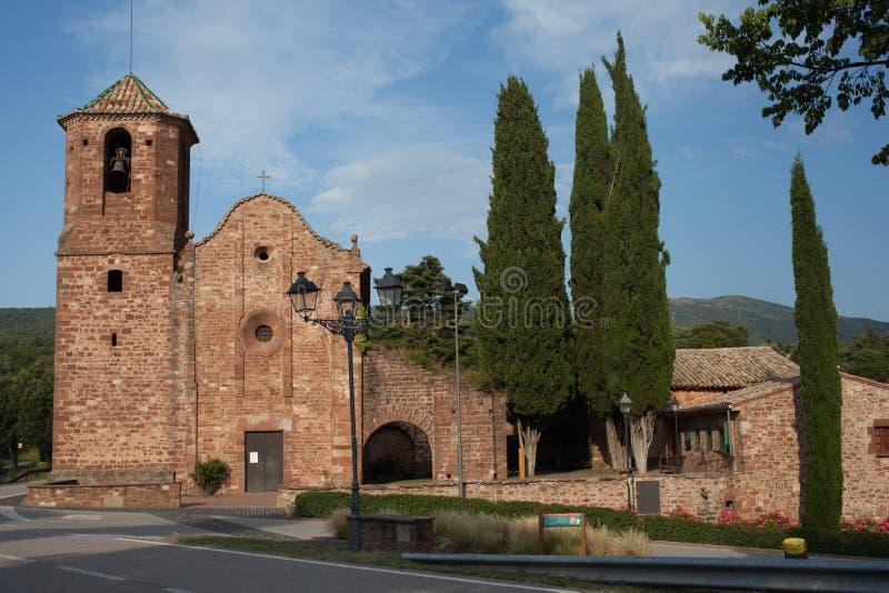 Sant Marti del Brull romańszczyzny kościół kompleks fotografia stock