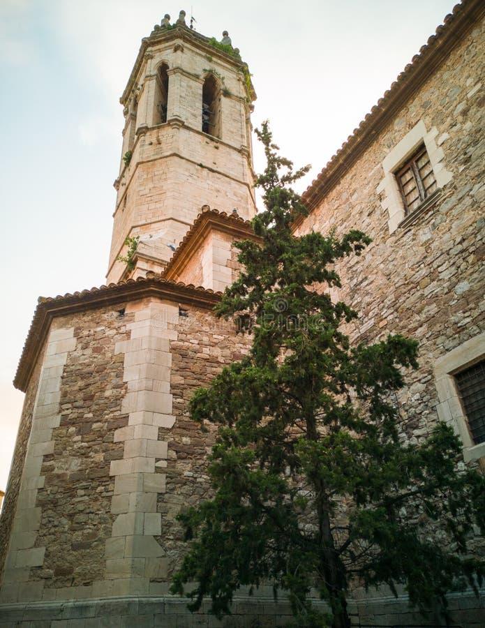 Sant Mary of Moia parish church clocktower royalty free stock photography