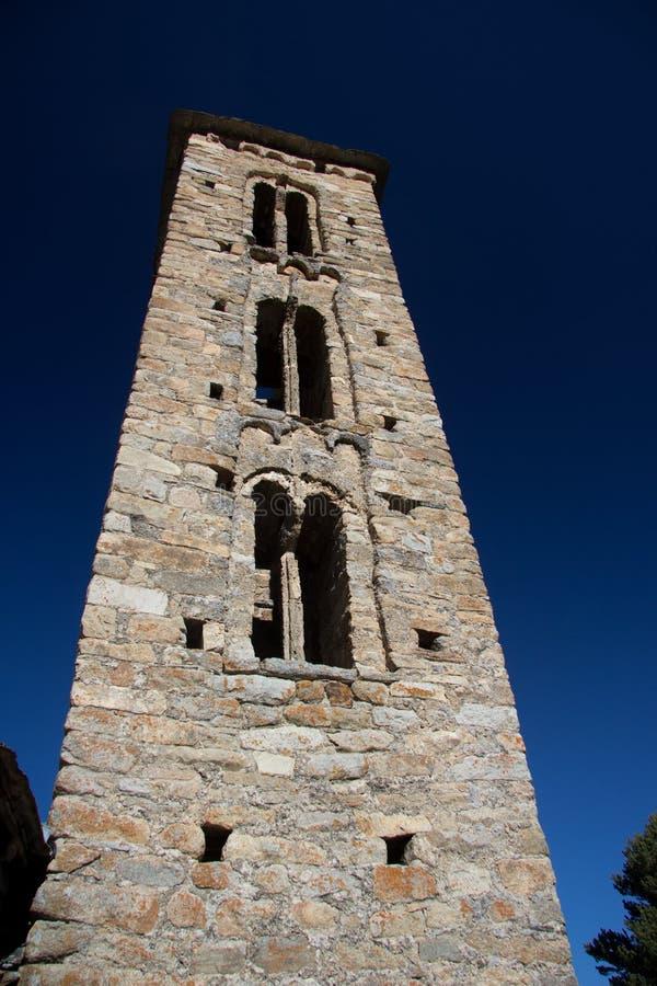 Sant Miquel romanic church, Andorra stock photography