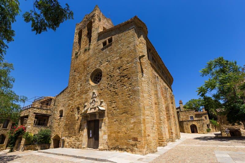 Sant Pere Church i vänner, Spanien royaltyfri foto