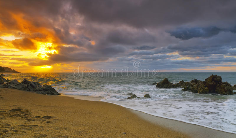 Sant Pol de Mar, Costa Brava, Spain royalty free stock photography