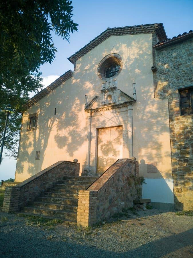 Sant Quirze和圣诞老人Juiita教会入口 库存照片