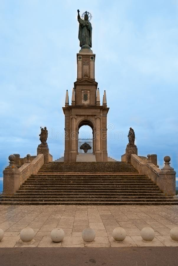 SANT SALVADOR zabytek W MAJORCA, HISZPANIA fotografia royalty free