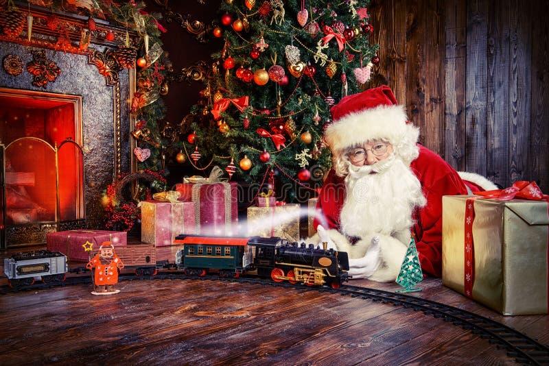 Santa è venuto fotografia stock libera da diritti