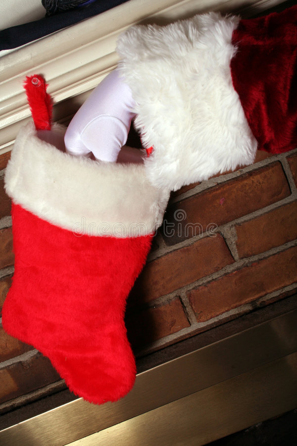 Santa étant Sneaky photos stock