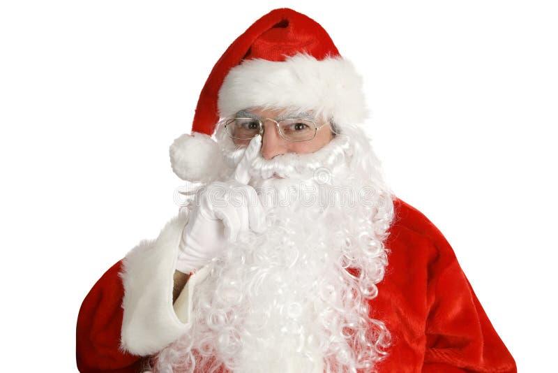 Santa étendant son doigt? photographie stock