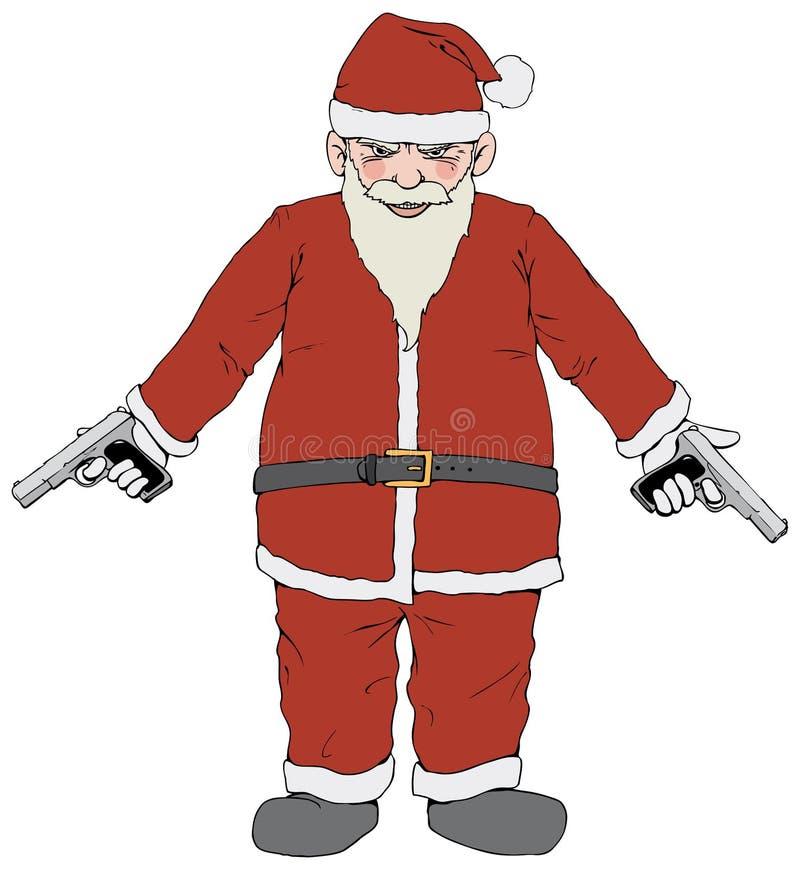 Santa źle royalty ilustracja