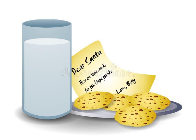santa γάλακτος μπισκότων διανυσματική απεικόνιση
