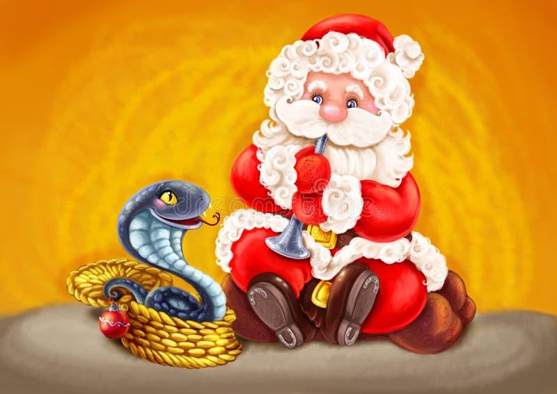 Santa - γόης φιδιών. διανυσματική απεικόνιση