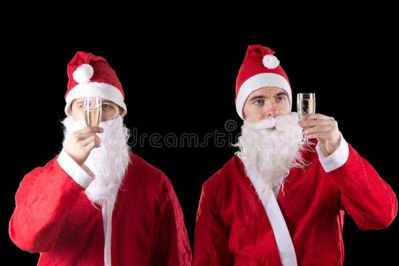 santa δύο Claus στοκ εικόνα