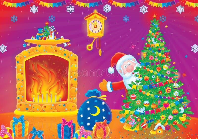 santa δώρων Claus Χριστουγέννων ελεύθερη απεικόνιση δικαιώματος