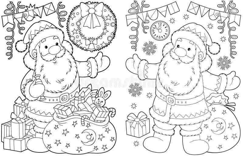 santa δώρων Claus Χριστουγέννων διανυσματική απεικόνιση