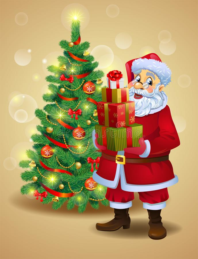 santa δώρων Claus διανυσματική απεικόνιση