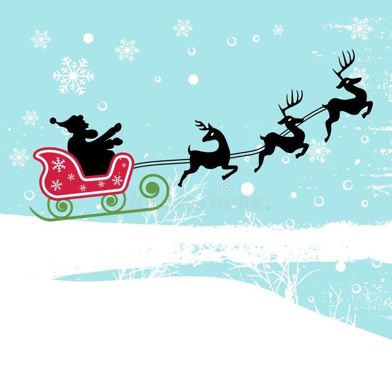 santa ελαφιών Claus απεικόνιση αποθεμάτων