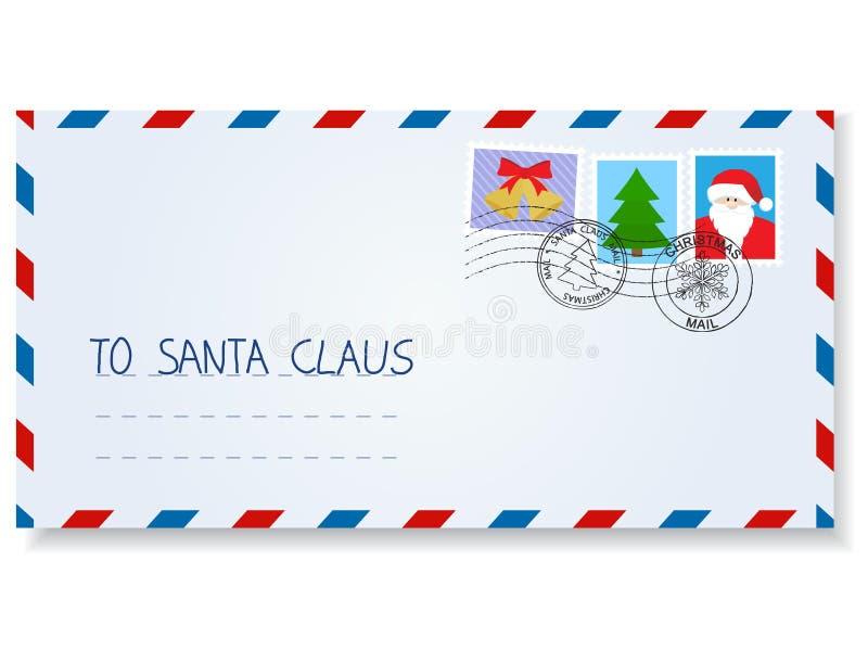 santa επιστολών Claus διανυσματική απεικόνιση