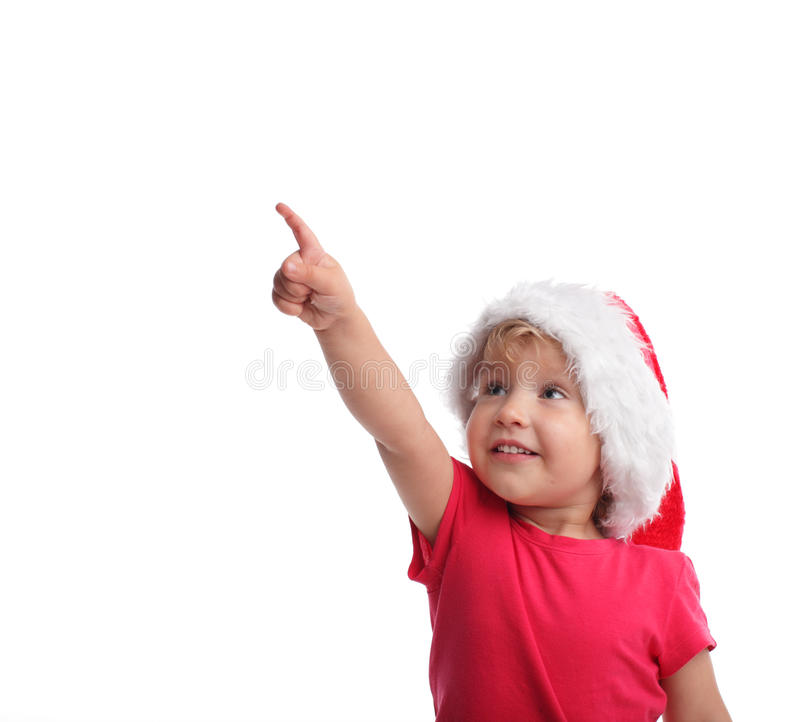 santa καπέλων παιδιών στοκ φωτογραφίες με δικαίωμα ελεύθερης χρήσης