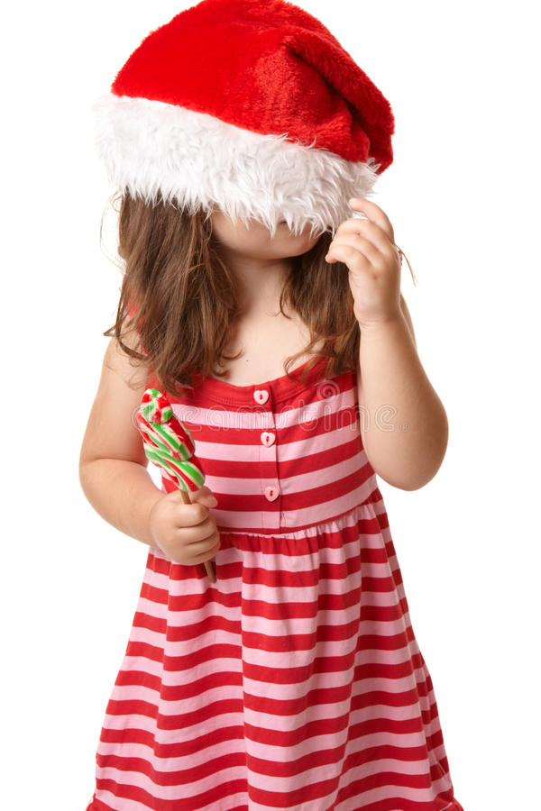 santa καπέλων Χριστουγέννων πα στοκ εικόνες με δικαίωμα ελεύθερης χρήσης