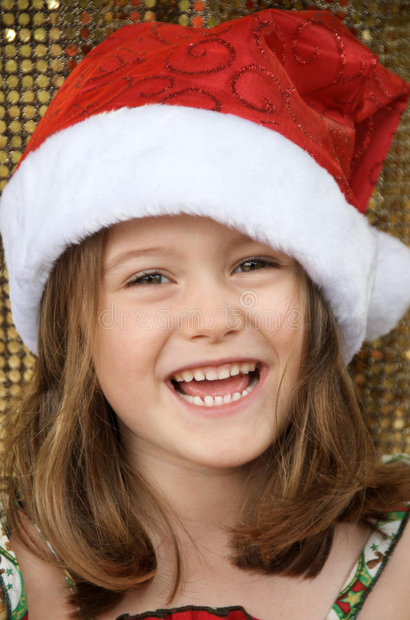 santa κοριτσιών στοκ εικόνες με δικαίωμα ελεύθερης χρήσης