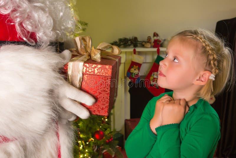 Santa παρόν στοκ φωτογραφία