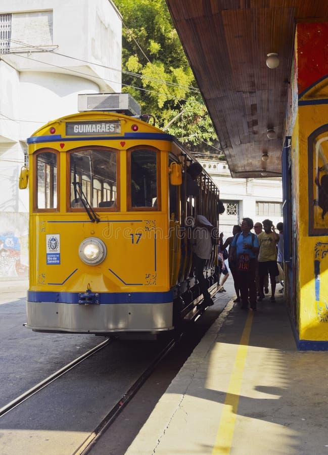 Santa Τερέζα Tram στο Ρίο στοκ εικόνες
