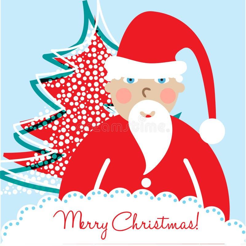 santa Χριστουγέννων καρτών διανυσματική απεικόνιση