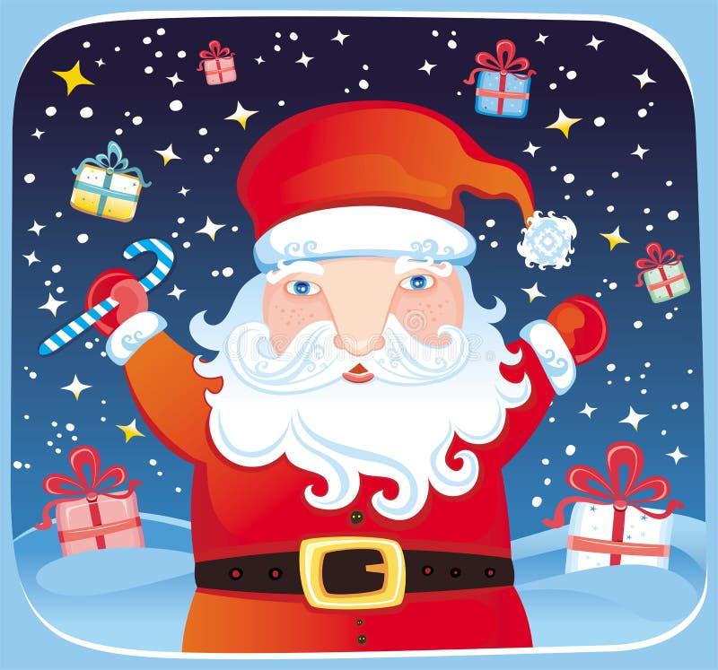 santa χριστουγεννιάτικων δώρ&ome απεικόνιση αποθεμάτων