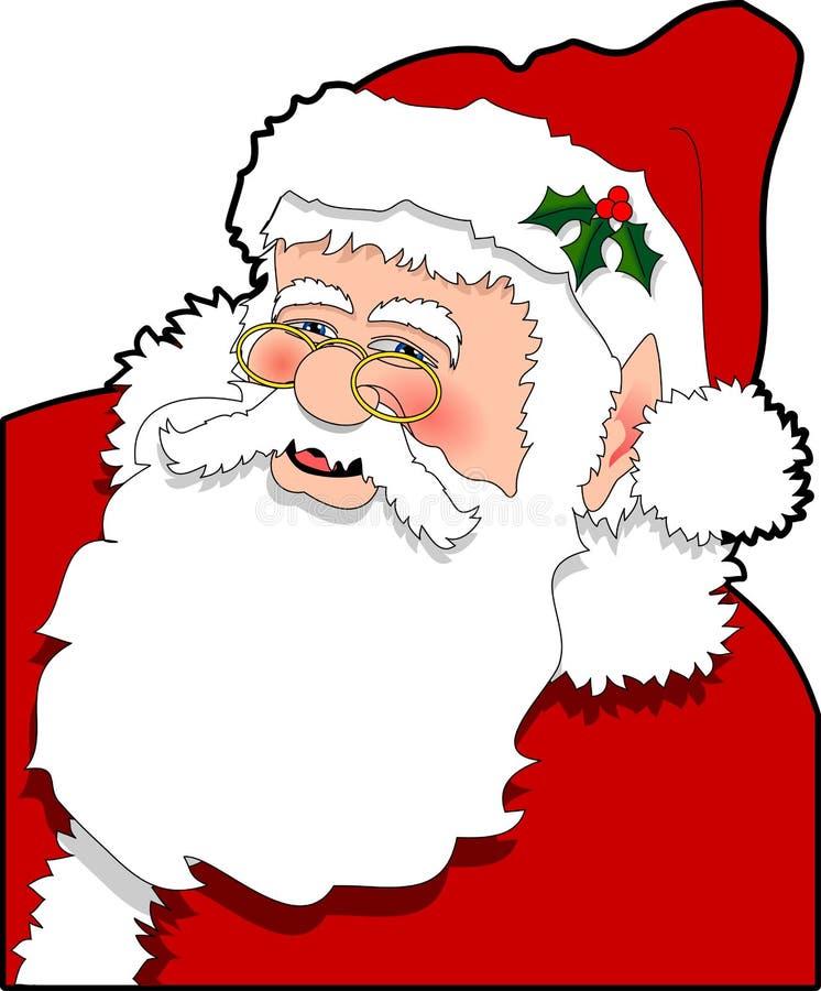 Santa_02. Raster cartoon graphic depicting Santa Claus royalty free illustration