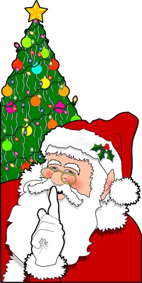 Santa_04. Raster cartoon graphic depicting Santa Claus stock illustration
