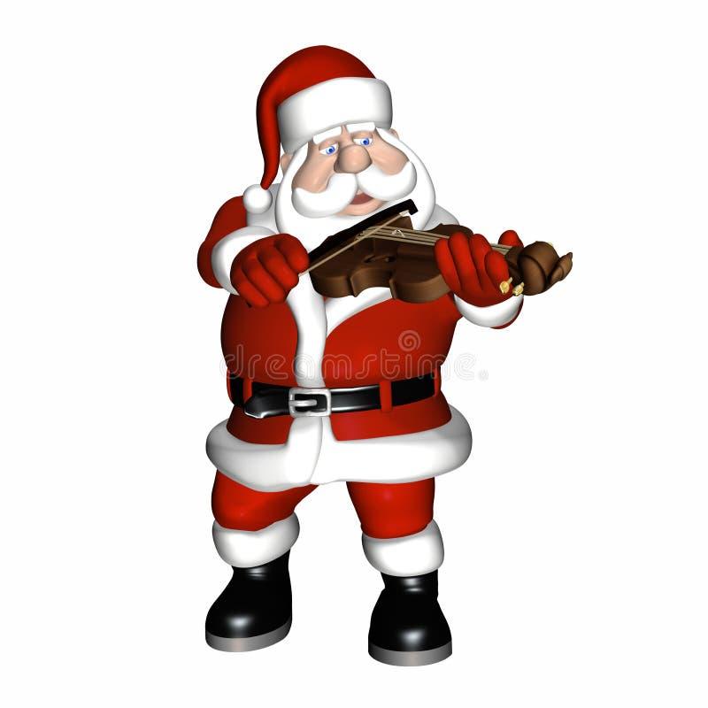 Santa (1) bawić się skrzypce ilustracji