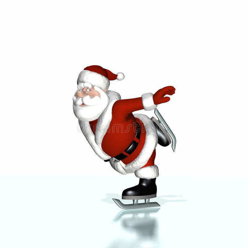 Santa 1 patinador libre illustration