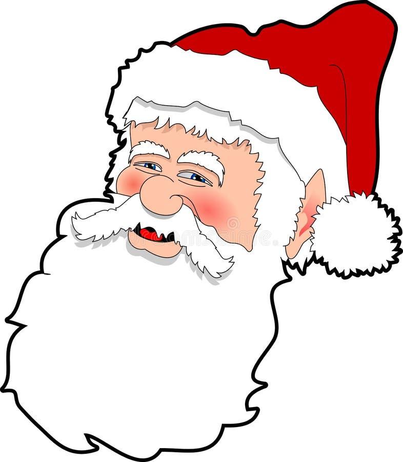 Santa. Raster cartoon graphic depicting Santa Claus royalty free illustration