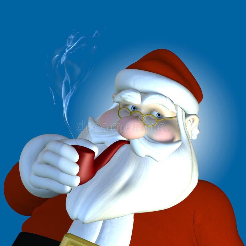 Santa 2010 - Pipe Stock Photography