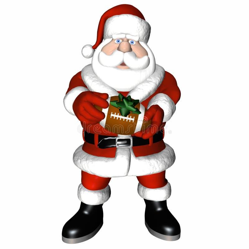 Santa 4 piłki royalty ilustracja