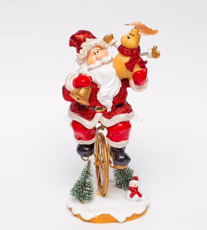 Santa a acrobata do Natal foto de stock
