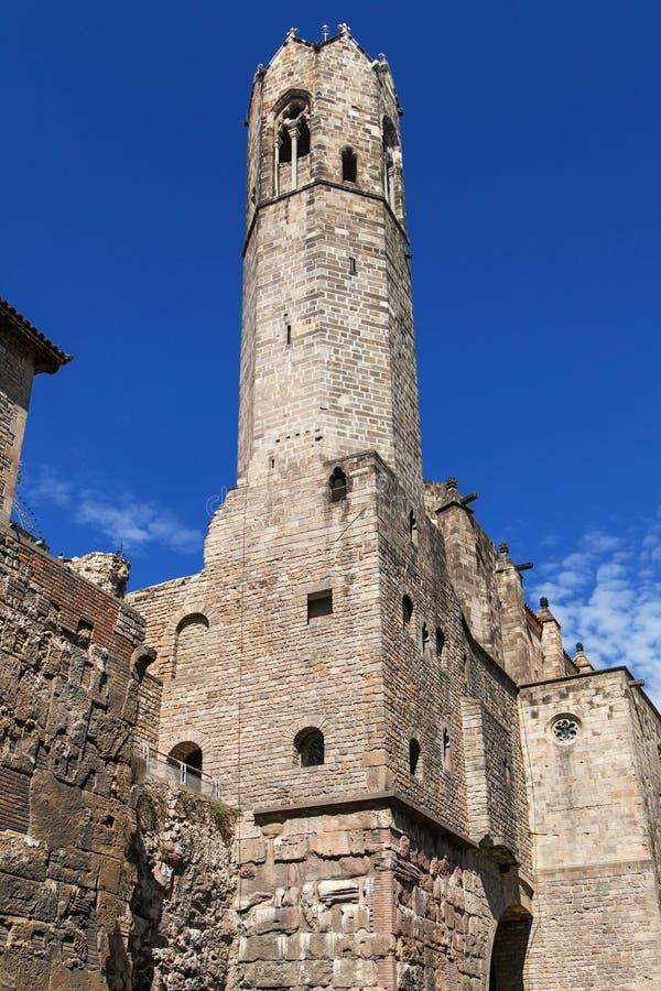 Santa Agata Tower en Barcelona fotos de archivo