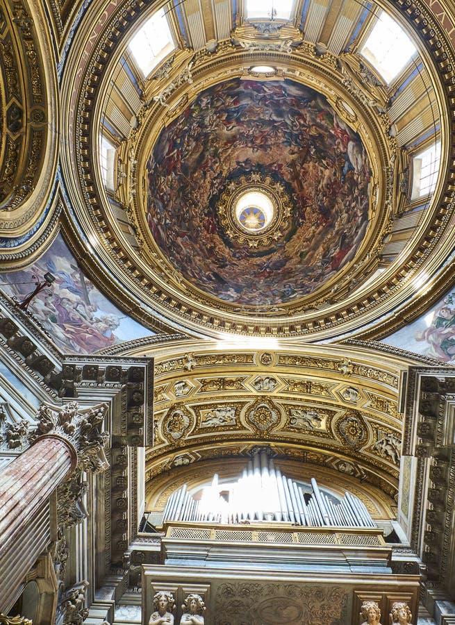 Santa Agnese em Agone Roma, Lazio, Itália imagem de stock royalty free
