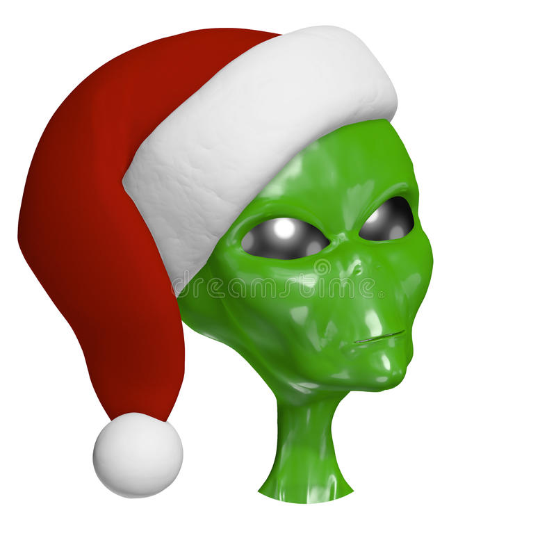 Download Santa Alien 2 stock illustration. Image of merry, christmas - 26661450