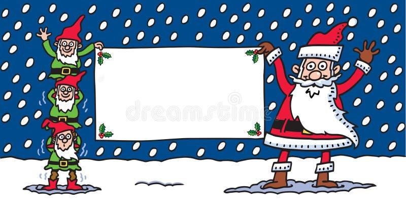 Santa & elfi royalty illustrazione gratis