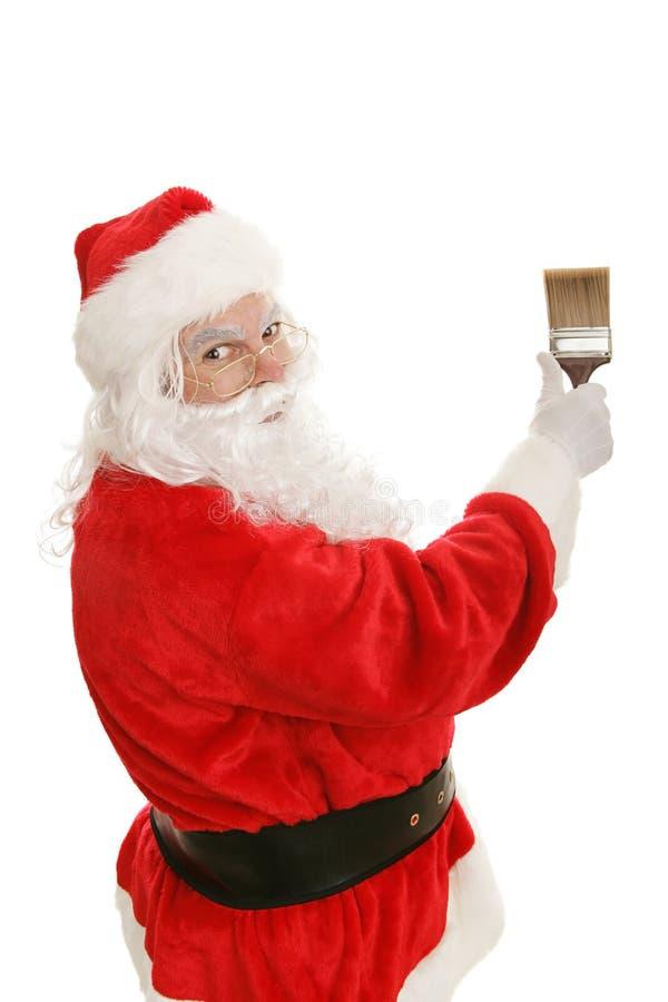 Santa & pennello fotografie stock libere da diritti