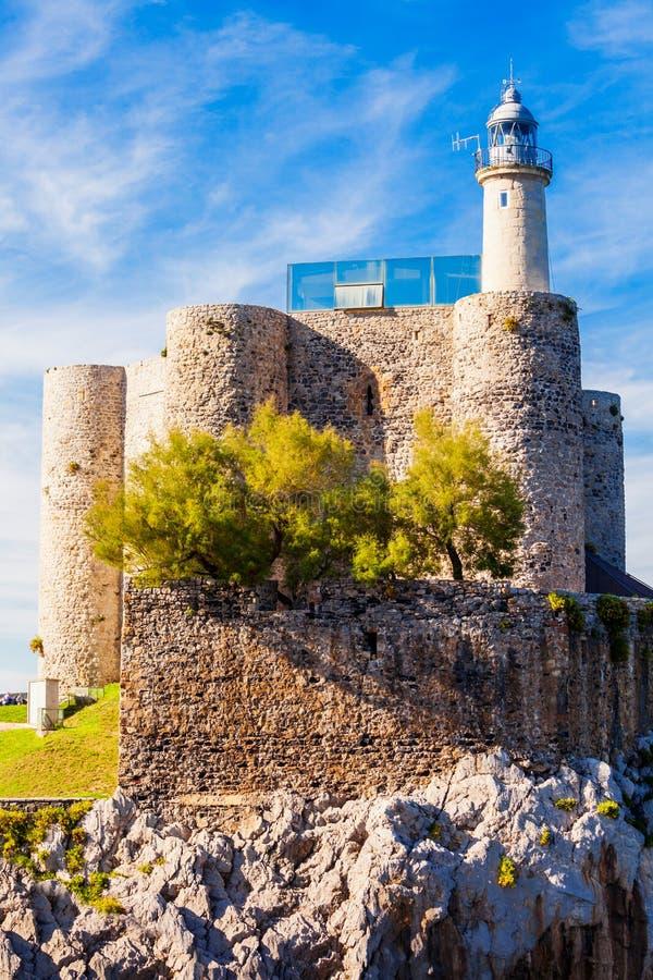 Santa Ana Castle, Castro Urdiales imagen de archivo libre de regalías