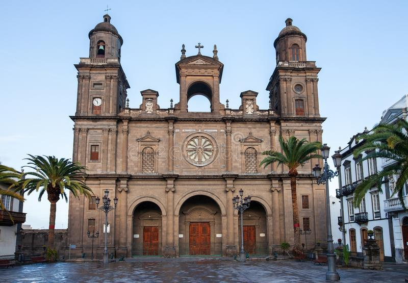 Santa Ana cathedral, Las Palmas, Gran Canaria. Canary islands, Spain stock photography