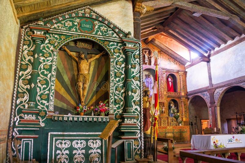Santa Ana Church Altar imagenes de archivo