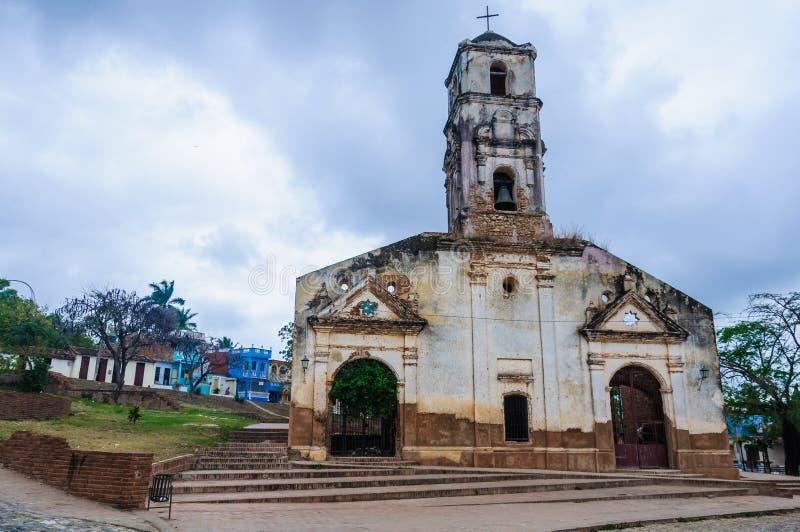 Santa Ana Church i Trinidad, Kuba arkivbilder