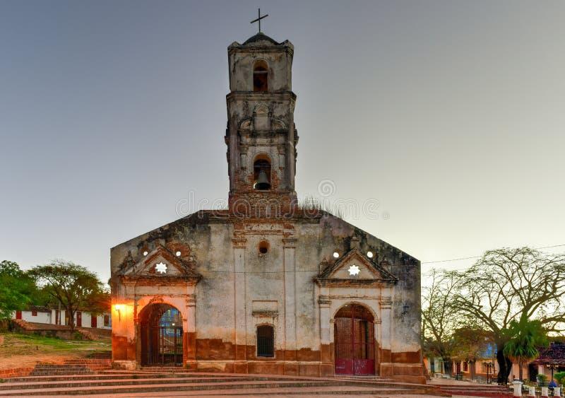 Santa Ana Church - Trinidad, Kuba royaltyfria foton