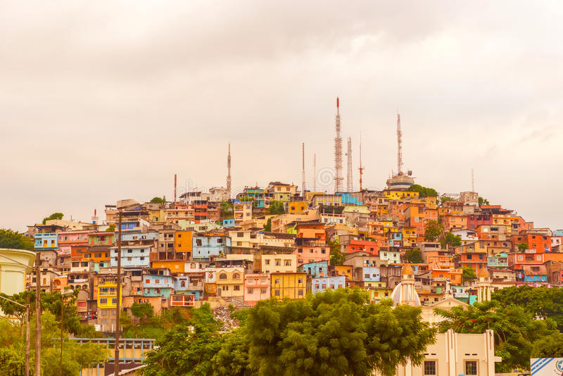 Santa Ana-Hügel in Guayaquil, Ecuador stockfotos