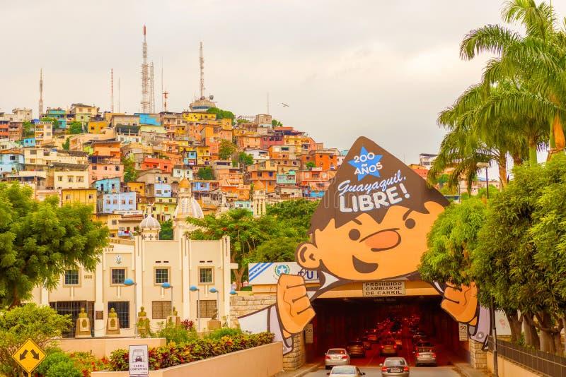 Santa Ana-heuvel in Guayaquil, Ecuador royalty-vrije stock afbeeldingen