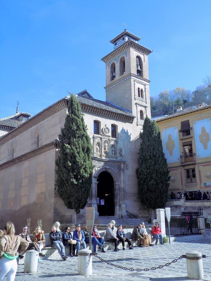 Santa Ana a igreja-Granada-Andaluzia imagens de stock royalty free