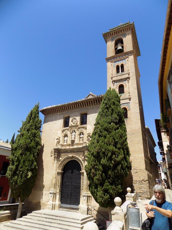 Santa Ana igreja-Granada - a Andaluzia imagens de stock