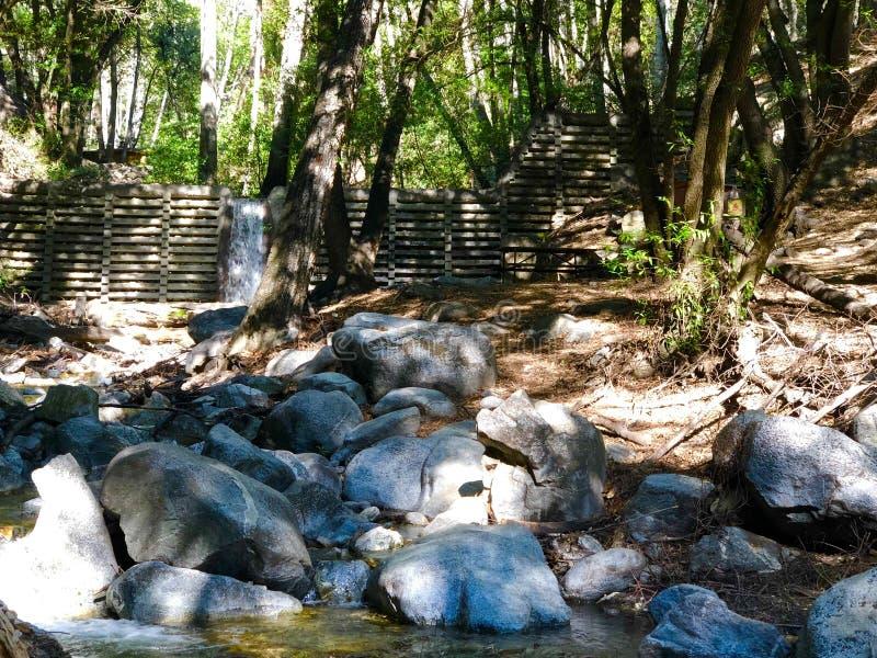 Santa Anita Canyon River And Rocks fotografia stock