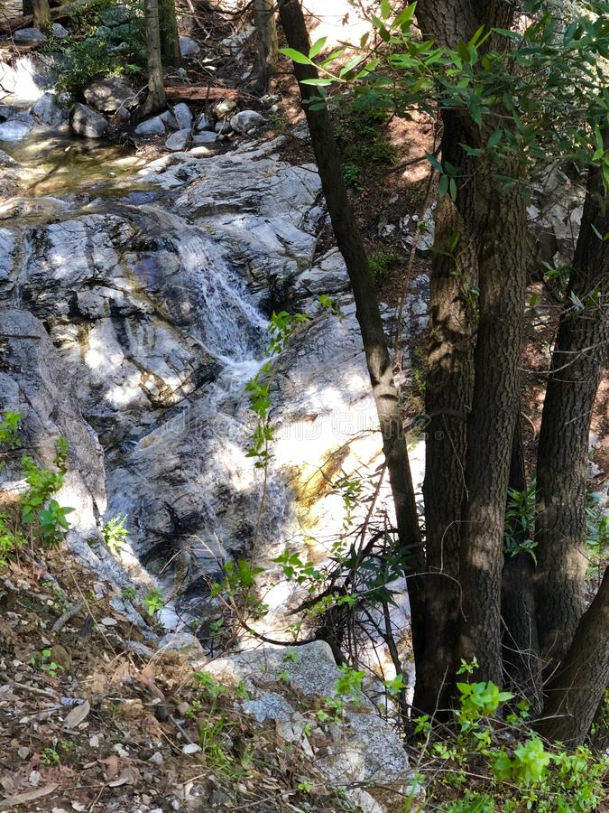 Santa Anita Canyon River fotografie stock